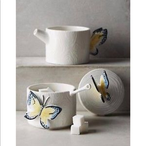 Butterfly Forest Stacking Sugar Pot & Creamer Set